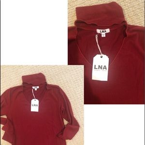 LNA  (never worn )long sleeve top